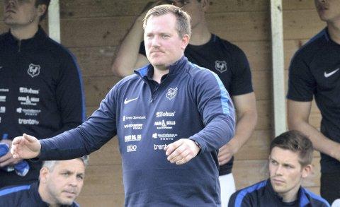 SLITER: Trener Joakim Dragsten så at laget dominerte det første kvarteret. Så kollapset eidsvollingene.