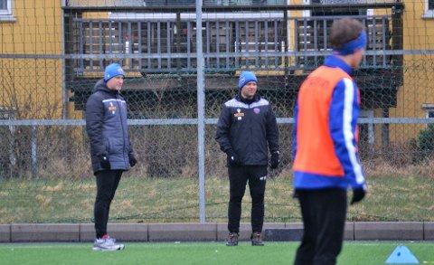 DUO: Andreas Tegström (t.v) og Hans Erik Ødegaard er begge svært spente før alvoret nå starter for SF.