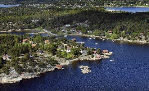 Karlsøya i Sarpsborg er et populært hytteområde.
