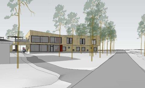 BYGGE OM: Fritidsparken ønsker å bygge om det gamle vandrerhjemmet til å romme også administrasjonslokaler.