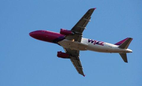 PÅ VINGENE: 23. oktober 2020 har Wizz Air oppstart på en ny rute fra Torp. Foto: Ralf Haga (arkiv)