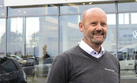 REKORDÅR: Gumpens Auto har lagt bak seg nok et rekordår. Daglig leder Jarle Midtbø sikter nå enda høyere for 2021.