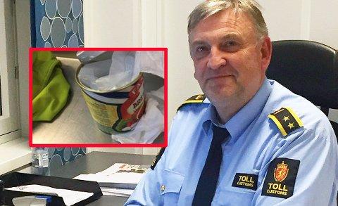 MANGE BESLAG: Tollvesenet avslørte en rekke smuglere i mars, opplyser seksjonssjef Sven-Øystein Wagn Ferstad ved Sandefjord tollsted. Blant annet ble to personer tatt med flere kilo amfetamin som var gjemt i hermetikkbokser.