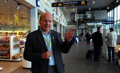 Sandefjord lufthavn - Torp. Den såkallte Torp-effekten, lufthavnsjef Alf Reidar Fjeld og styreleder, adm. dir Heidi M. Pettersen