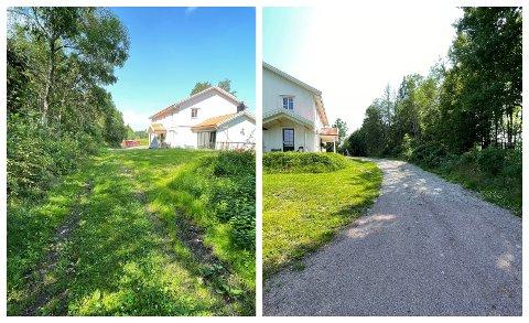 VEITVIST: Det er denne stien, som går rett utenfor boligen til advokat Marianne Teisbekk, det krangles om.  Stien går over Teisbekks gårdsplass. Retten mener det er naturlig å anse veiarealet som utmark.