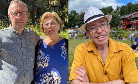 Forkastelig: Pastor Dag Grande reagerer sterkt på uttalelsene. Her avbildet med kona Judith Grande og Levi Jensen (høyre).
