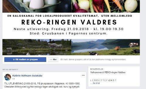 Facebook: 21. september er det utlevering på grusplassen i Fagernes (tidligere idrettsplassen), men bestilling gjør du på nett.