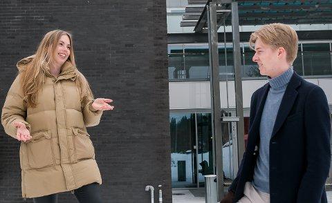 Skoleparti: – Høyre er det tydeligste skolepartiet. For ungdom er det viktig å få friheten til å bestemme mer over sitt eget liv, og få ta sine egne valg. Derfor må vi unge få bestemme selv hvor vi skal gå på skole, hvilke valgfag vi vil ha og om vi vil ha mer, eller mindre utfordringer innad i fagene, fastslår Anine Norén og kaster et blikk på Tage Slind Jensen for støtte, og han er helt enig. (Her fra en tidligere anledning.)