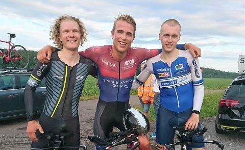 REKORDJEGERE: Trym Bjørner Westgaard Holter, Oskar Myrestøl Johansson og Magnus Sørbø.