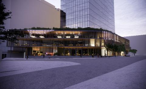 KNUTEPUNKT: Slik ser arkitektfirmaet for seg den nye delen av KPMG-bygget.