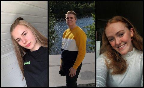Rikke (18), Ben (19) og VIlde (19).