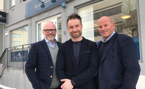 Meglerteamet: Artur Holand, Frode Andresen og Martin Tjærandsen er alle partnere i Nord-Megler.