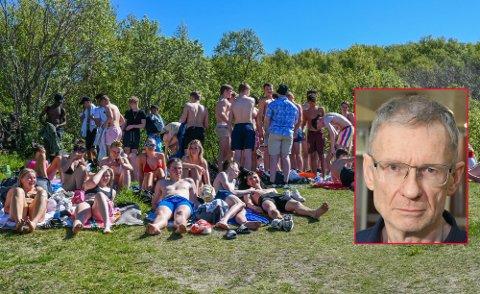 Smittevernoverlege Kai Brynjar Hagen i Bodø kommune mener det å møtes ute er en fin måte å ha sosial kontakt på.