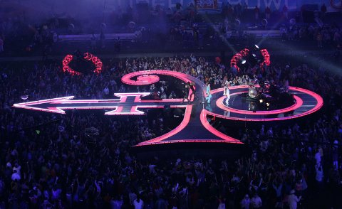 Prince-show under NFL's Super Bowl XL.