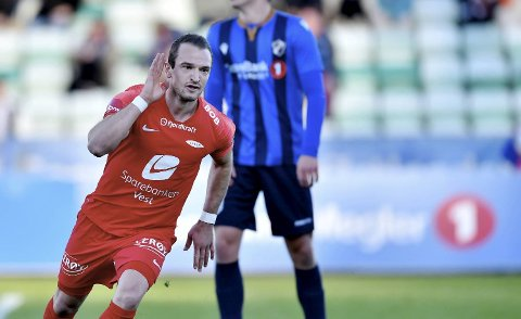 Veton Berisha scoret et flott mål.
