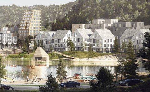 Axer Eiendom har store planer for utbygging ved  Tertneskrysset.