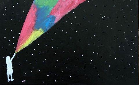 "Tegning av kulturskoleelev Jenny Wærum Aarre: ""Lys i mørke""."