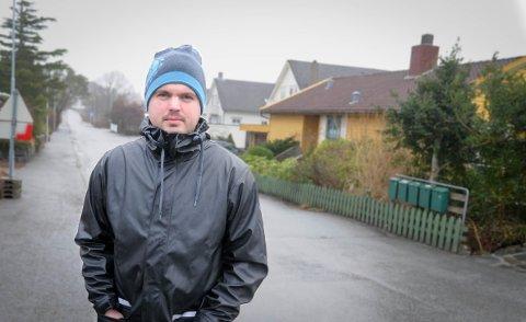 Fortetting: Velforeningsleder Kim Stian Kolnes i Viste Hageby har engasjert seg i debatten om fortetting på eiendommen Varheiveien 18.