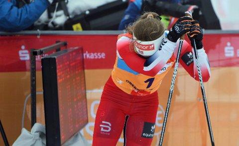 Helene Marie Fossesholm måtte gråte modige tårer etter finalen i Oberwiesenthal.