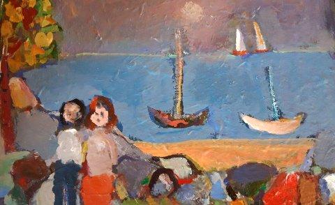 Olav Thune liker å male bilder av barn.
