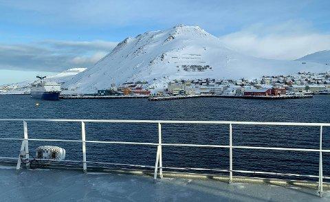 HONNINGSVÅG: Byen ved Nordkapp er en av de tolv havnene i nettverket til Cruise Northern Norway & Svalbard.