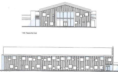 Massivtre: Skolen bygges av massivtre i elementer som settes sammen. Det gir en kort byggetid og bygget kan være reist innen sommeren neste år. Tegninger: BAS Arkitekter