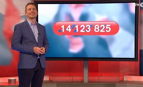 TOK HELE POTTEN: Fredrikstad-kvinnen var alene om å ha sju rette i Lotto i dag, lørdag. Hun fikk dermed hele potten med 14,1 millioner kroner.