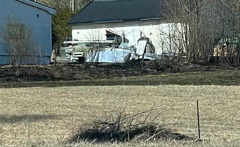 I en kort periode var det fare for at brannen ville spre seg til huset.