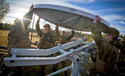 Regjeringen foreslår i sin langtidsplan for Forsvaret å opprettholde Jørstadmoen som hovedbase for Cyberforsvaret. Foto: Daniel Nordby, Cyberforsvaret