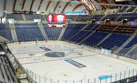 Håkons Hall er igjen klar for ishockeyfest.