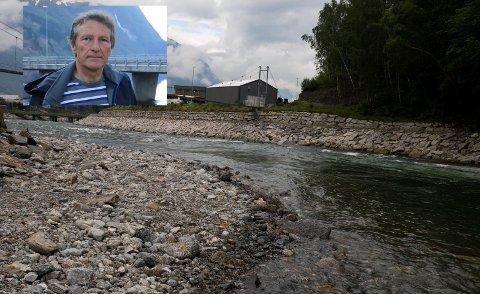 OPO: Opo i Odda sentrum ved den kjende fiskeplassen Ivarshølen. I august kan det på nytt bli tatt fisk her.