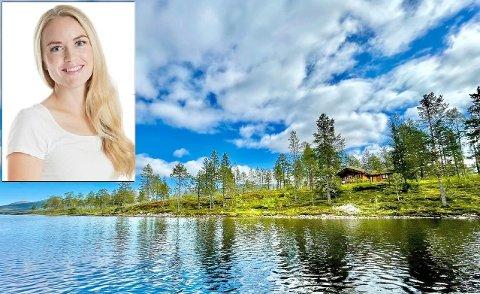 SJELDENT: Megler Helen Dyrhaug Kristiansen mener fritidseiendommen i Grane er noe som sjeldent dukker opp i markedet.
