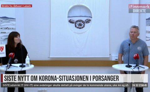 SPORES TIL HAMMERFEST: - Alle syv kan nå spores i forbindelse med Hammerfest, sa Jørn Gregersen om Porsangers påviste tilfeller av Covid-19.
