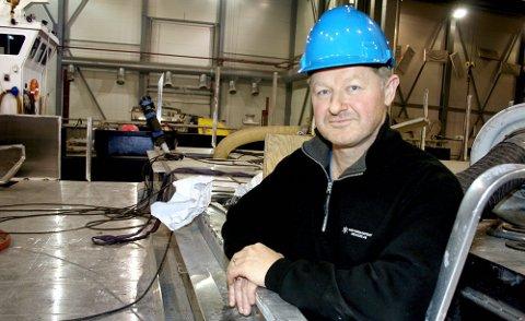 Daglig leder Bård-Meek Hansen på Grofjord mekaniske verksted.