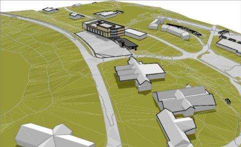 PERSPEKTIV-SKISSE: Dette er perspektivskissene på brannstasjonsbygningen som er vurdert i en mulighetsstudie.