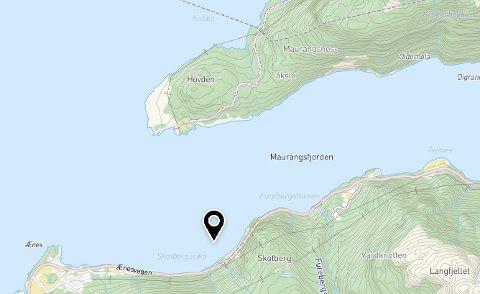 Kartillustrasjon frå Norkart/Kommunekart.com.