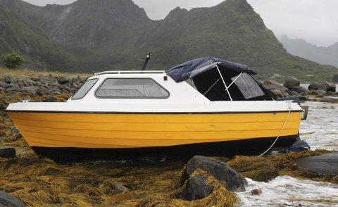 Slitt seg: Roy Arvid Dahl tror båten har slitt seg i vinden natt til lørdag.FOto: Roy Arvid Dahl