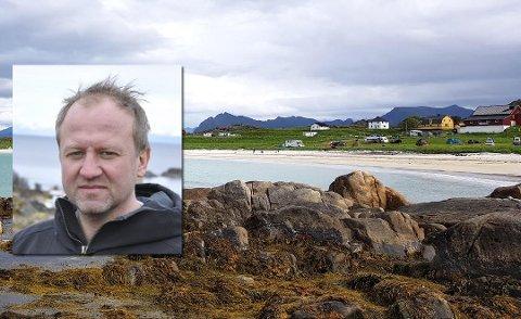 Hovsvika: Naturvernforbundet har sendt en bekymringsmelding til Vågan kommune etter å ha fått tips om masseuttak av sand ved stranda på Hov.  Grunneier Frode Hov svarer på kritikken.