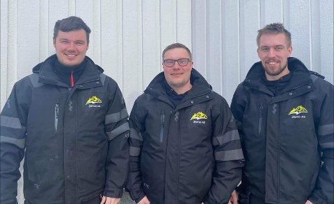 NYTT: Thor-Olav Kristensen, Lasse Pleym Ludvigsen og Brynjar Nordbakken står bak 3bygg Lofoten AS
