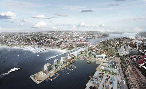 Forslag: Slik kan nye Moss bli seende ut, noen år etter at byen 2020 markerer 300 år som kjøbstasd og by.