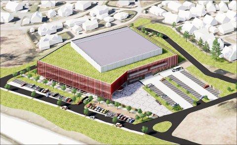 SLIK BLIR DET: Slik ser Arcasa Arkitekter for seg det nye konferansesenteret på Årvoll i Rygge. Utbyggingen har en kostnad på 350 millioner kroner.