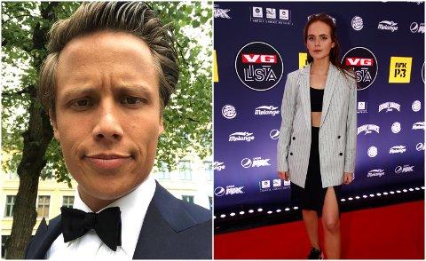 KJENDISPAR: Mandag ble det kjent at disse to kjendisene har blitt et kjærestepar.