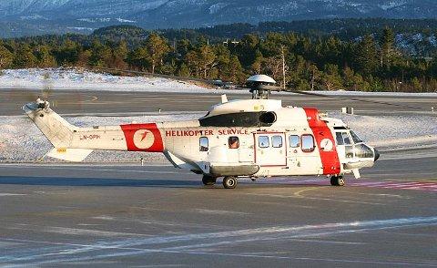 SUPER PUMA: Det var et helikopter av denne typen, en Aerospatiale AS332 Super Puma som styrtet.