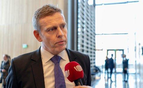 PÅ TINGHUSET: Statsadvokat Torstein Lindquister ble intervjuet av Nordlys før rettssaken startet onsdag morgen.