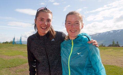 TRENINGSVENNINNER OG SUPERRIVALER: Yngvild Kaspersen og Hilde Aders vil stå for kanskje den råeste lokalduellen i MSM-historien på lørdag: De to Tromsø-kvinnene står med årsbeste i Norge på henholdsvis halvmaraton og maraton. Lørdag kveld braker de sammen på halvmaraton på MSM.