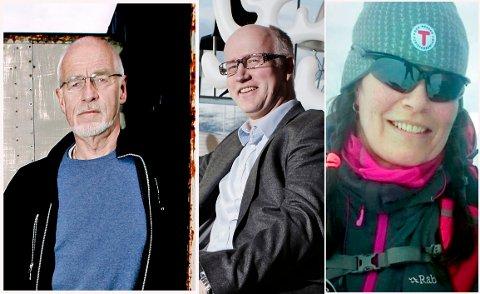 Johan Petter Barlindhaug, Kjetil Arnesen (Tromsø Arbeiderforening) og Hilde Grimstad (Troms Turlag).