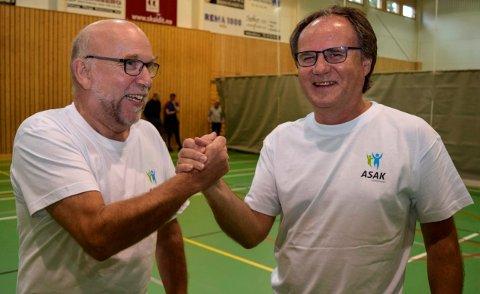 Rektor Knut Solhaug (t.v.) og prosjektstyreleder Trond Johnsen mener ASAK-prosjektet har vært vellykket.