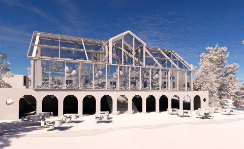 MAT MED UTSIKT: En glassoverbygning over deler av ruinene kan bli løsningen på Hovdetoppen.