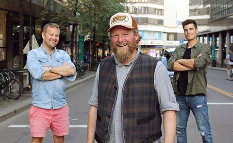 """TOP GEAR: Esben Ullbæk Bundgaard-Jørgensen """"Dansken"""" Selvig, Petter Schjerven og Fredric Aasbø er programledere for Top Gear Norge."""