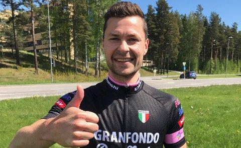 Stiller opp: Anders Jacobsen er klar for lørdagens Granfondo fra Hammerdalen.
